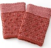 「匠」ダブルフックアフガン針で編む輪編みのリストバンド