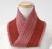 クロバー「匠」ダブルフックアフガン針で編むメビウス編みのネックウォーマー