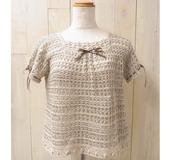 ダブルフックアフガン針で編む セーター