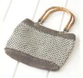 ダブルフックアフガン針で編む バッグ