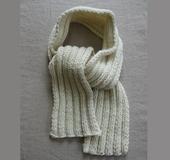 はじめてのニット 二目ゴム編みのマフラー