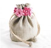 ちくちくヨーヨープレートでつくる雑貨 お花の巾着袋