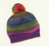 ランドネーゼで編む ポンポン帽子