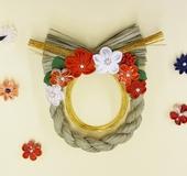 つまみ細工プレートで作るお正月のしめ飾り