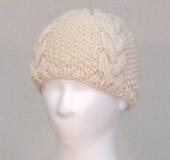 クロバー棒針「匠」で編むアラン帽子