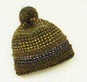 カリーノ・ランドネーゼで編む ダブルフックアフガン帽子