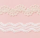 ヘアピンレースで編む 繊細でエレガントなブレード2種