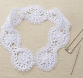 ヘアピンレース「ミニ」で編む ロマンチックなつけ衿
