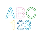 アルファベット 刺繍図案